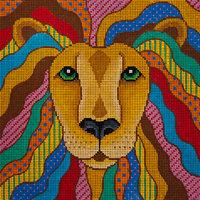 JP Needlepoint Leo the Lionhearted