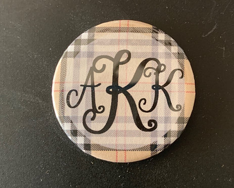 Burberry Plaid with Black Letters