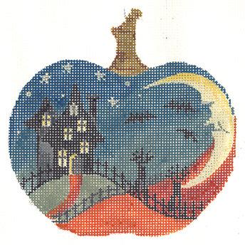 Kelly Clark KCN1570 House on Hill Silhouette Pumpkin