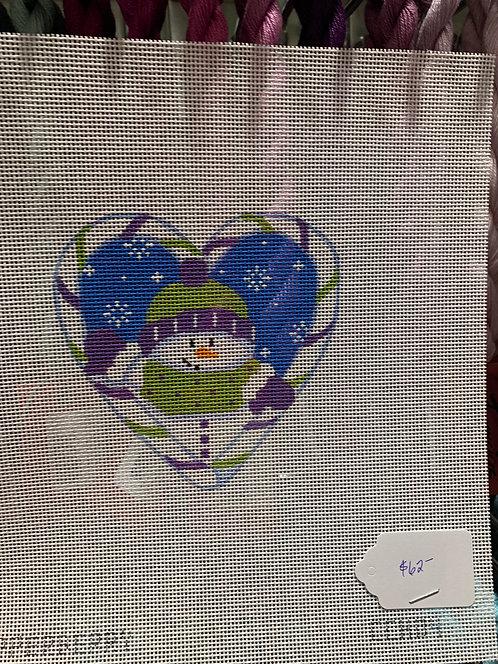 Pepperberry Snowman Heart CCH04