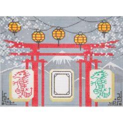 AP2776 Grey Pagoda Mah Jongg
