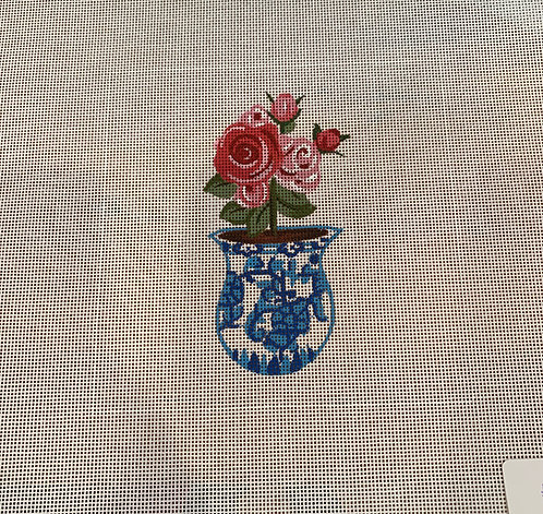 The Collection SB 1009 Roses in Blue and White
