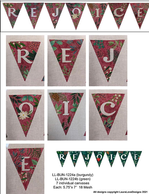 Rejoice Banner by LauraLove Stitches