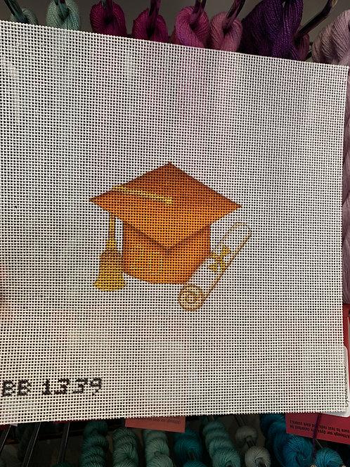 BB1339 Orange Graduation Cap