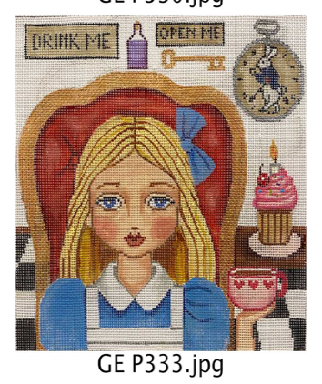 Gayla Elliott Alice in Wonderland Portrait GE P333 18 mesh