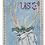 Thumbnail: Plum Stitchery Postage Stamp Reindeer