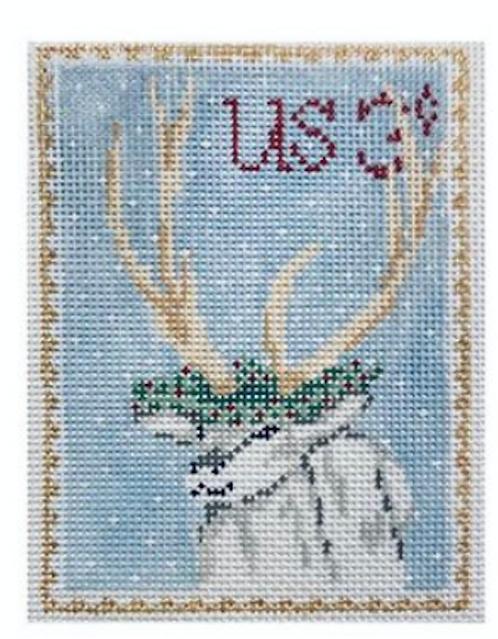 Plum Stitchery Postage Stamp Reindeer