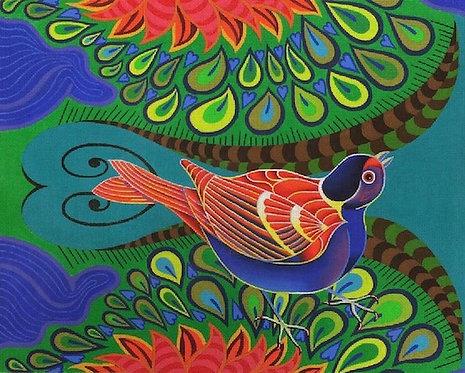 Exotic Bird Blue - 18 mesh