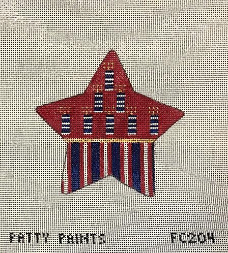 "Patty Paints FC204 Americana Firecracker Star 3.5"" 18 mesh"