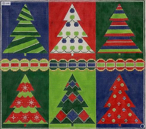 AP 4227 Six Christmas Trees 13 mesh