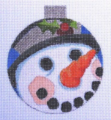 Raymond Crawford HO651 Snowman Ornament Round