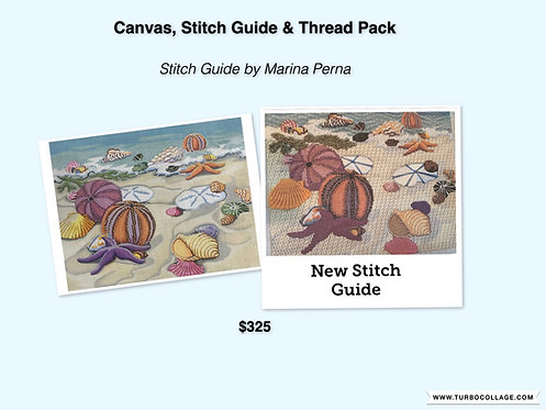 Alice Peterson Canvas, Stitch Guide & Thread Pack