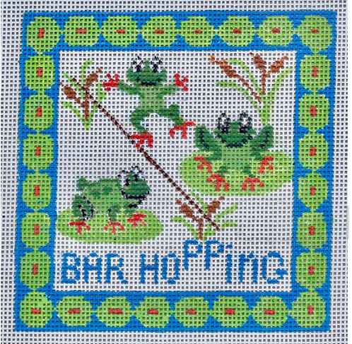 """Griffin Designs Bar Hopping.  4"""" Square"""