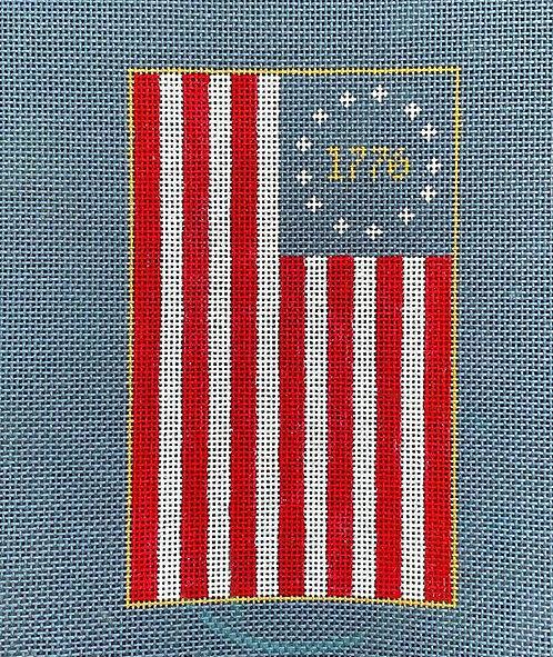 Bylee Needlepoint Betsy Ross Flag