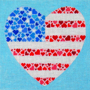 Amanda Lawford American Flag Heart D8164