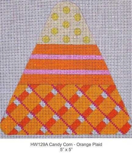 Eye Candy HW129A Orange Plaid Candy Corn