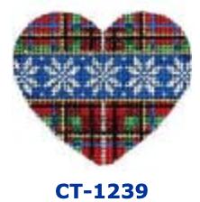 AT CT-1239 Plaid/Flakes  Heart