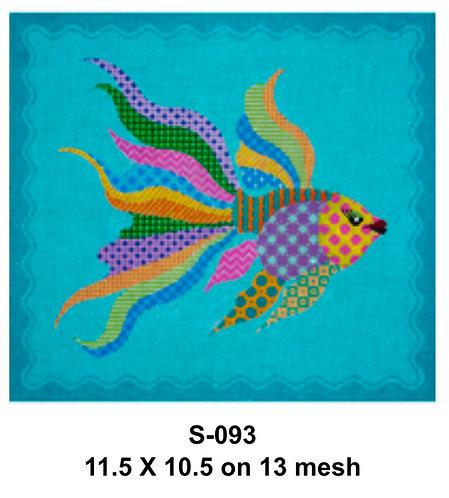 JP NeedlepointS-093 Fish facing Right