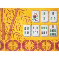 AP2778 Yellow Bamboo Mah Jongg