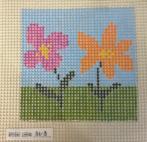 Stitchin' Littles SL-3 Two Blooms