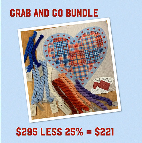Grab and Go Kate Dickerson 13 mesh Heart and threads