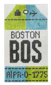 HedgeHog BOS Boston Travel Tag