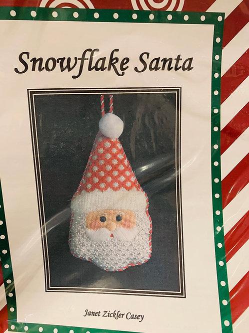 Snowflake Santa with Stitch Guide