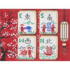 AP2777 Blossoms Mah Jongg