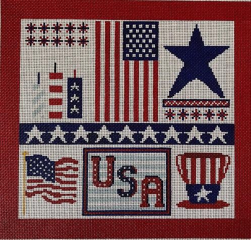 ASIT247 Patriotic Collage