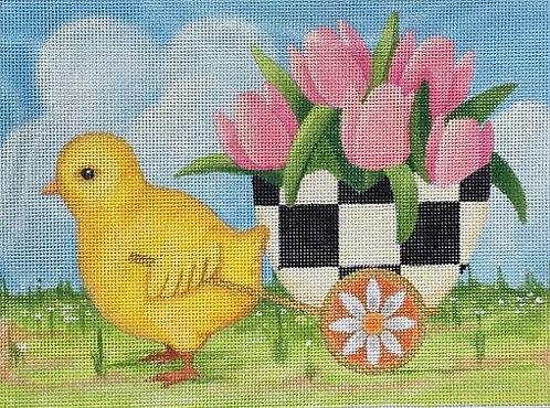 Raymond Crawford HO1461 Chick pulling Egg