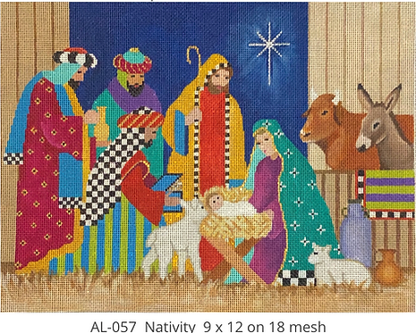 Amanda Lawford AL057 Nativity 18 mesh