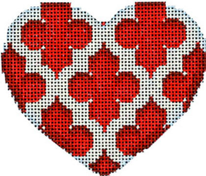 AT HE841r Quatrefoil Heart/Red
