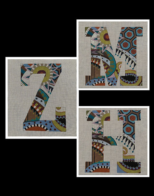 """12"""" High Subdued Floral Letters - 13 mesh"""
