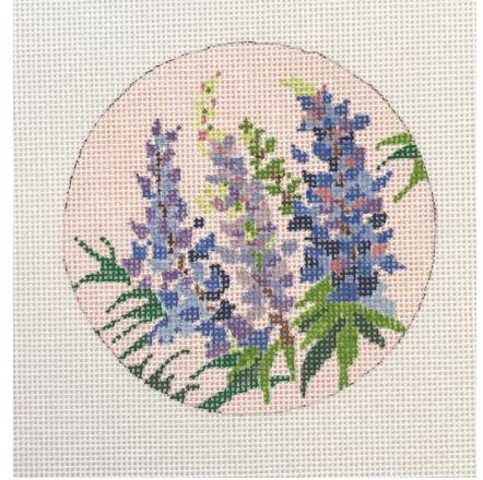 Blueberry Point Floral Round - Bluebonnet