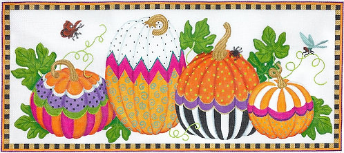 PL435 Funky Pumpkins Large Rectangle 18 mesh