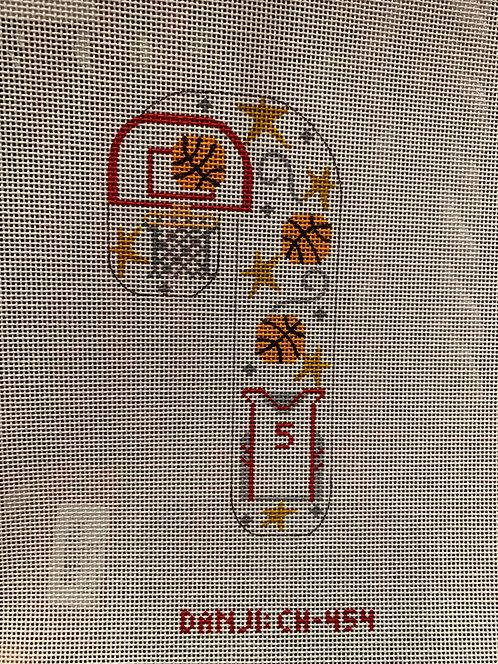 CH  454 Basketball Candy Cane