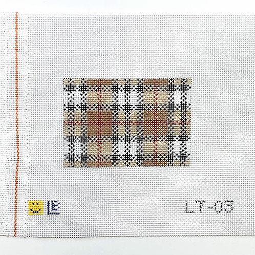 Lauren Bloch LT-03 Brown Plaid Luggage/Wallet Insert