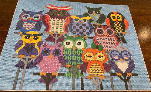 JP Needlepoint Owls - 13 mesh