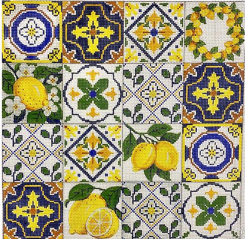 AP 4244 Navy and White Lemon Collage 13 mesh