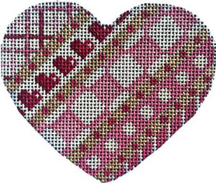 AT HE849 Diagonal Pattern Heart