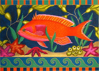 Amanda Lawford Orange Fish 3625