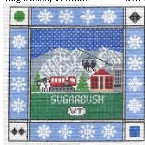 Doolittle Ski Squares 13 mesh Sugarbush