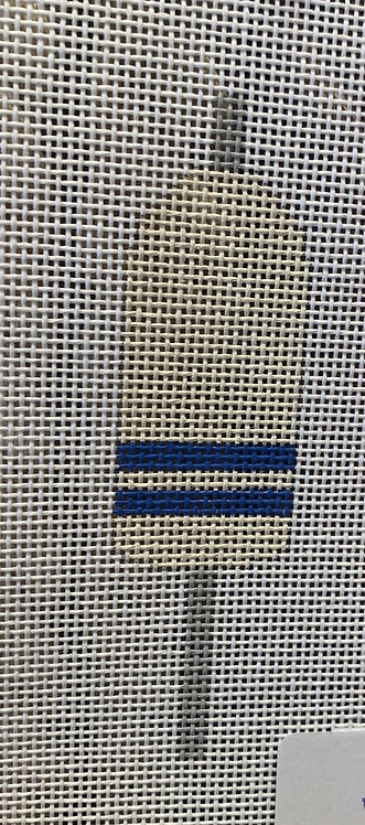 Plum Stitchery JCB Stitches Buoys - White with Blue/White Stripe