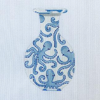 Sara Fritz SF-34 Blue Jardinere Octopus