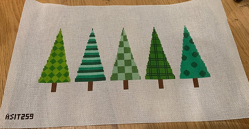 A Stitch In Time ASIT259 Christmas Trees 13 mesh