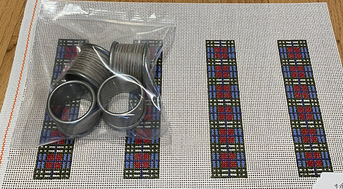 Halcyon House Designs Napkin Rings - Cranberry