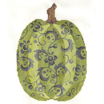 Kelly Clark KCN1571 Tall Green Floral Pumpkin