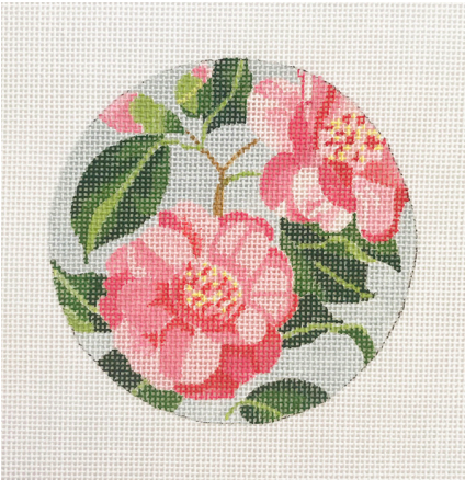 Blueberry Point Floral Round - Camellia