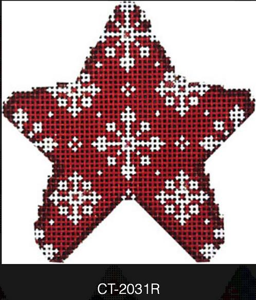 AT CT-2031R Red Snowflakes Mini Star