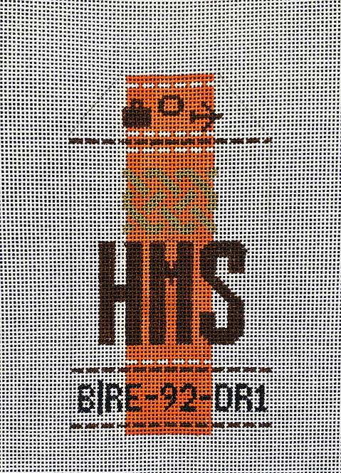 HedgeHog Hermes Retro Travel Tag
